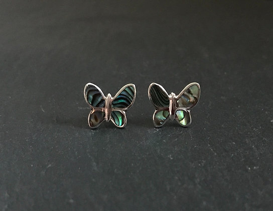 Paua Shell Butterfly Studs
