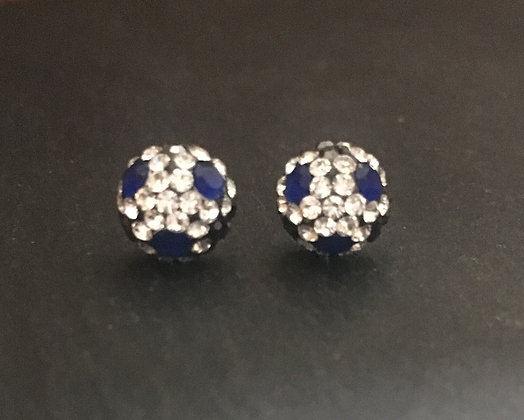 Sapphire, Crystal and Cubic Zirconia Round Ball Studs