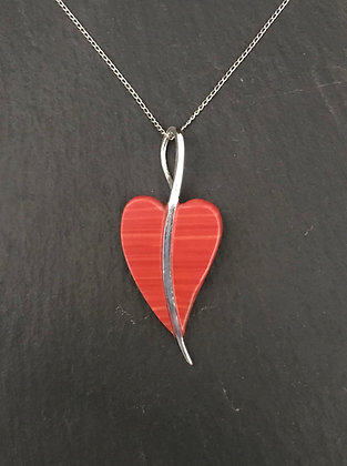 Heart Coral Pendant