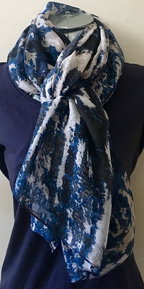 Dark Blue and Brown Scarf