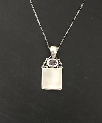 Mother of Pearl and Silver Pendant