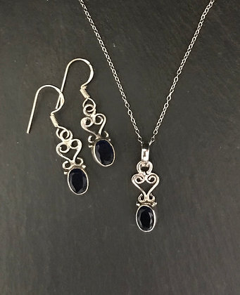 Sapphire and Silver Set