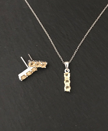 Citrine and Silver Set