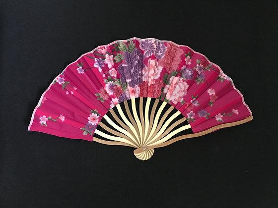 Hot Pink Handheld Fan