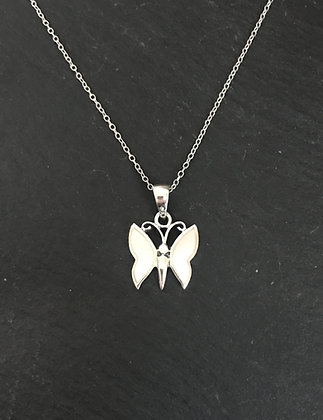 Mother of Pearl Butterfly Pendant