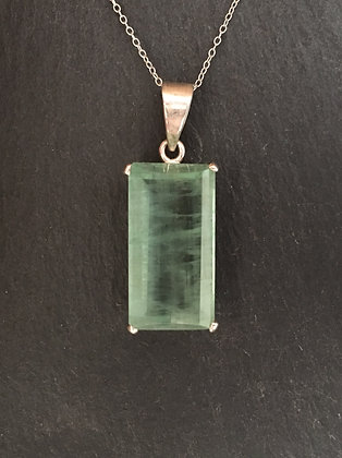 Aquamarine Rectangle Pendant