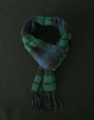 Green and Blue Checked Scarf