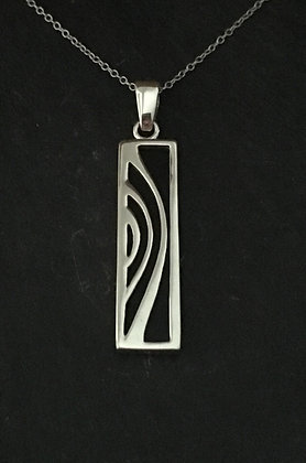 Black Onyx Rectangle Pendant