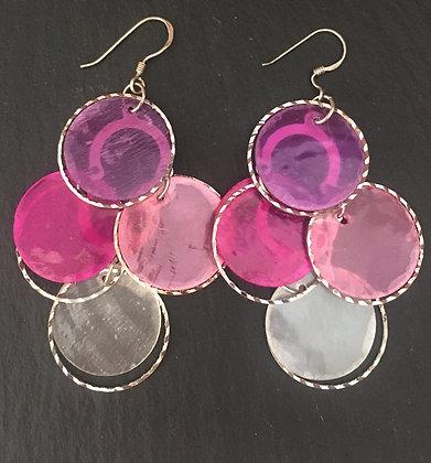 Coloured Shell Earrings