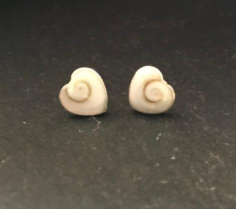 Shiva Shell Heart Stud Earrings