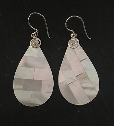 Mosaic Mother of Pearl Earrings