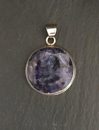 Round Sapphire Pendant