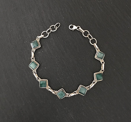 Square Emerald Bracelet