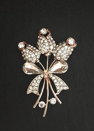 Bling Flower Brooch