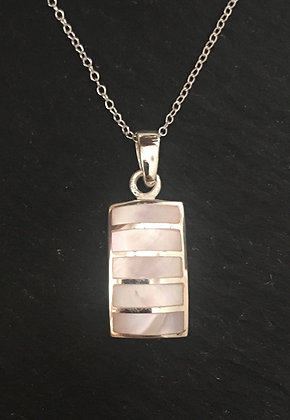 Mother of Pearl Rectangle Pendant