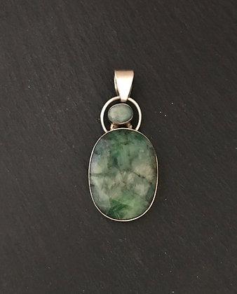 Oval Emerald Pendant