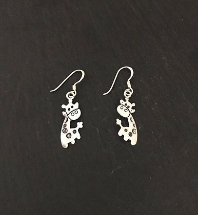 Silver Giraffe Earrings