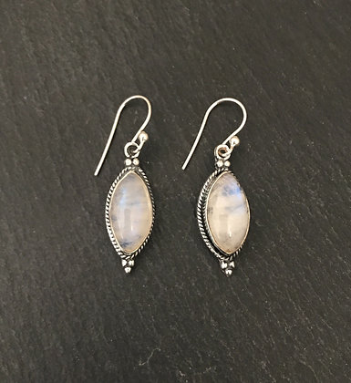 Moonstone Kite Drop Earrings
