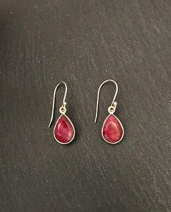 Teardrop Ruby Earrings