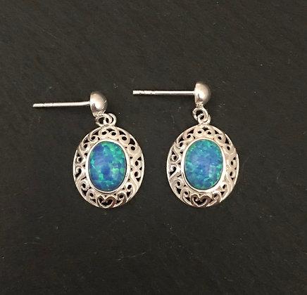 Synthetic Opal Earrings