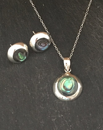 Paua Shell Round Set