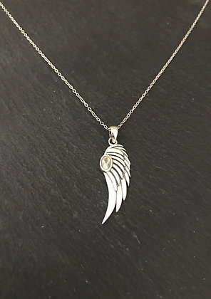Angel Wing Moonstone Pendant
