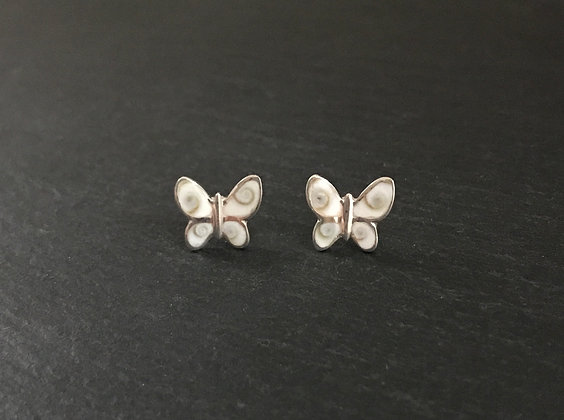 Shiva Shell Butterfly Stud Earrings