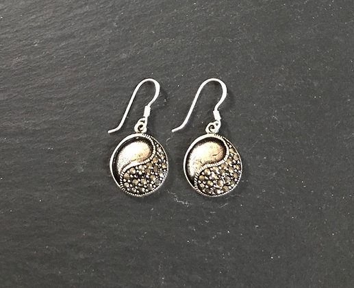 Round Marcasite Earrings