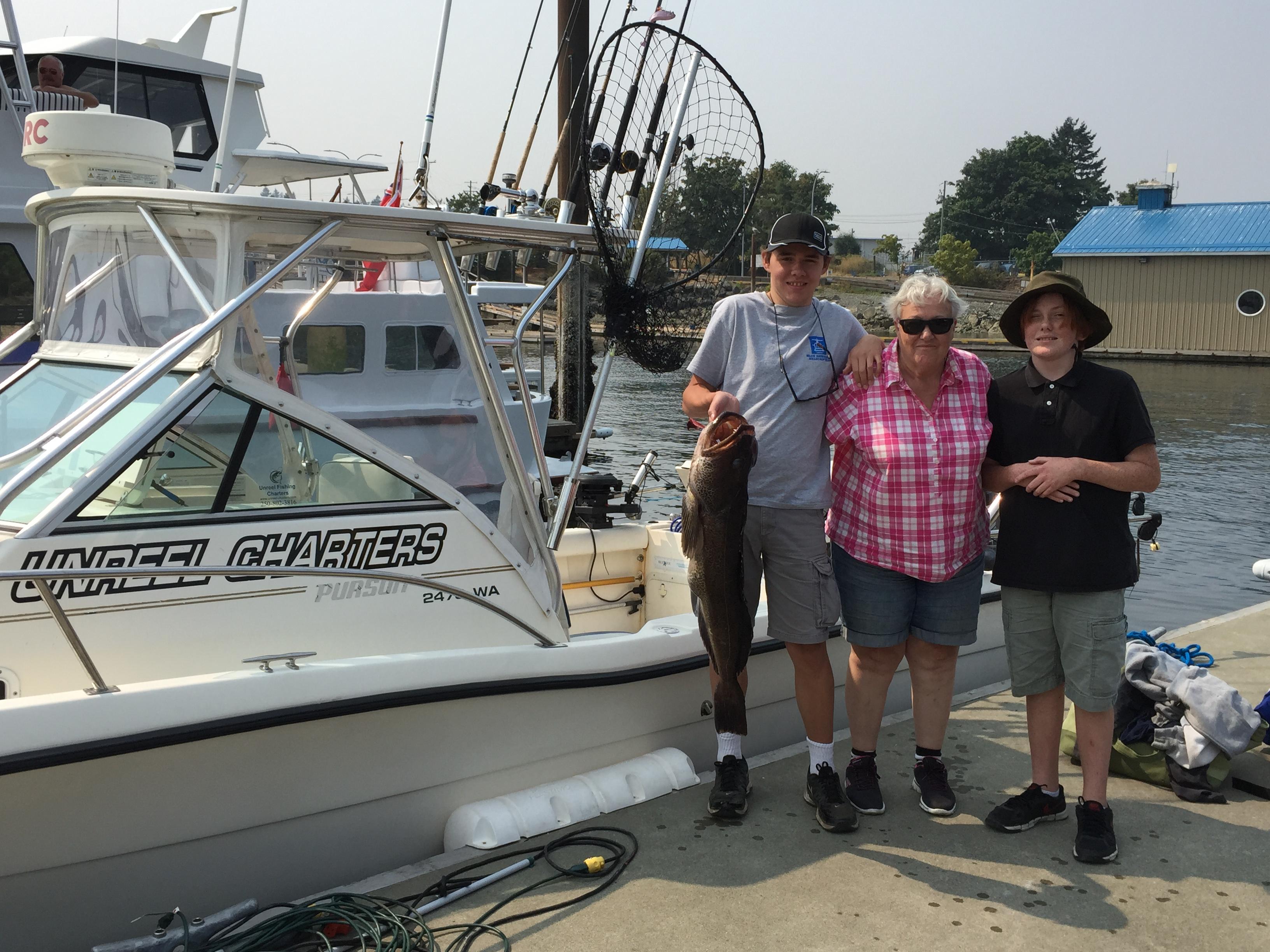 Lingcod nanaimo fishing charters