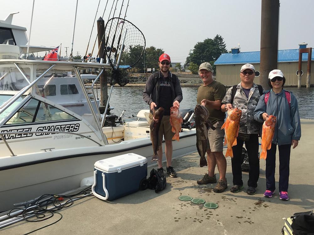 Nanaimo fishing charters great day bottom fishing