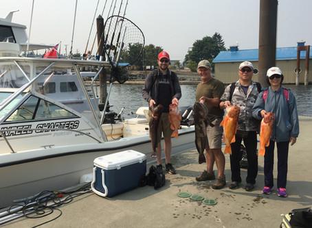 Nanaimo Fishing Charters Report 8/12/17
