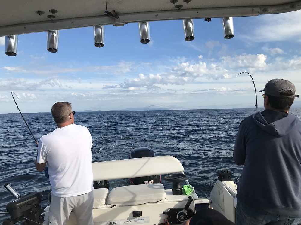 Double header chinook nanaimo fishing charter