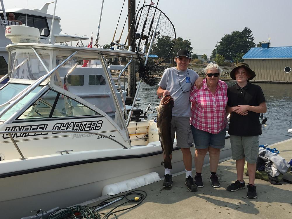 Nice 20 pound lingcod on this nanaimo fishing charters