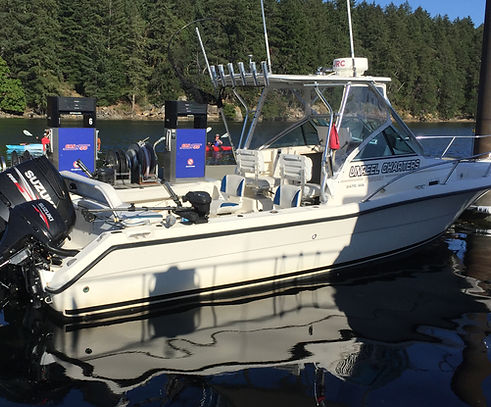 Nanaimo fishing charters Pursuit 2470 boat