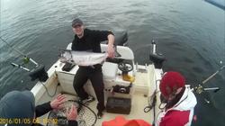 Nanaimo fishing charters 20 pound chinook salmon