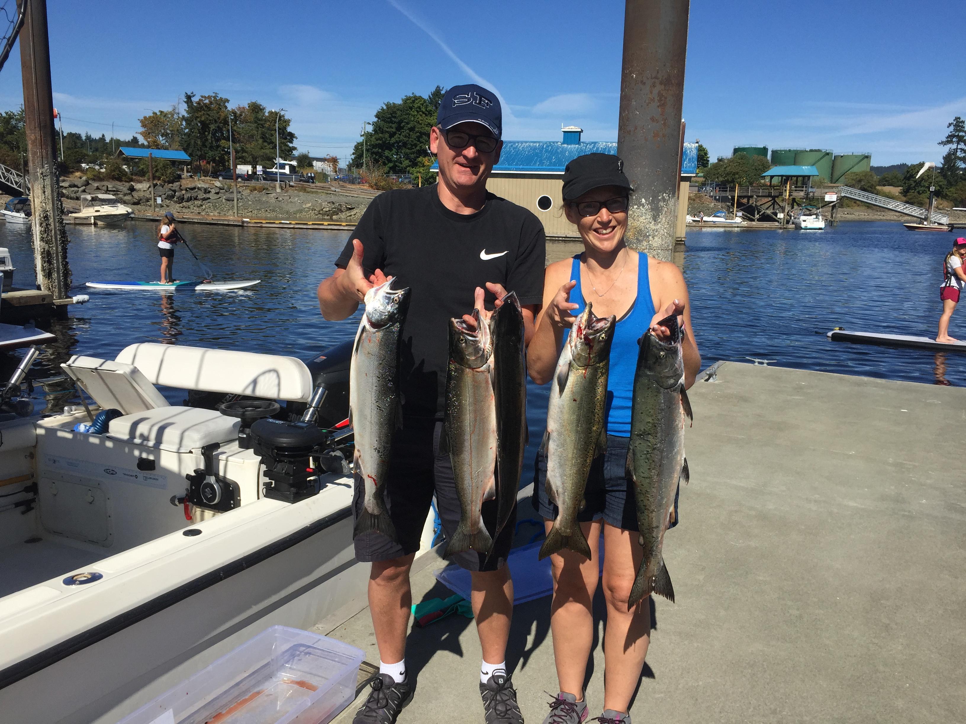 Nanaimo fishing charters coho salmon
