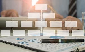 business structure concept. businessman