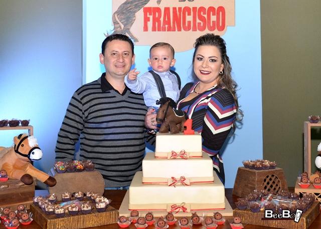 Francisco com os pais