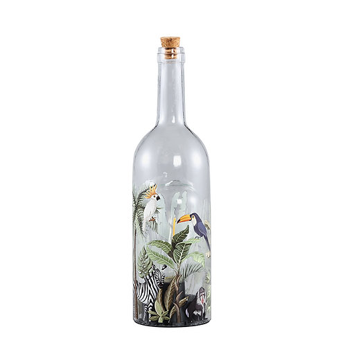 PTMD Glass led lamp bottle jungle L
