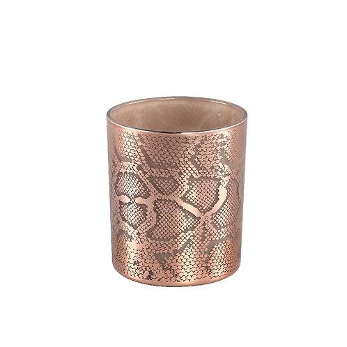 PTMD Giona copper glazen theelicht dierenprint l