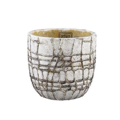 PTMD Albin white cement pot  rond L