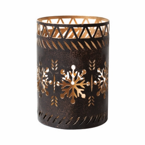 WW Candle Holder Snowflake Dark