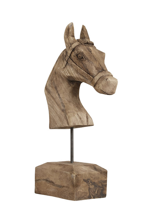 Ornament 25x14x48 cm HORSE hout weather barn
