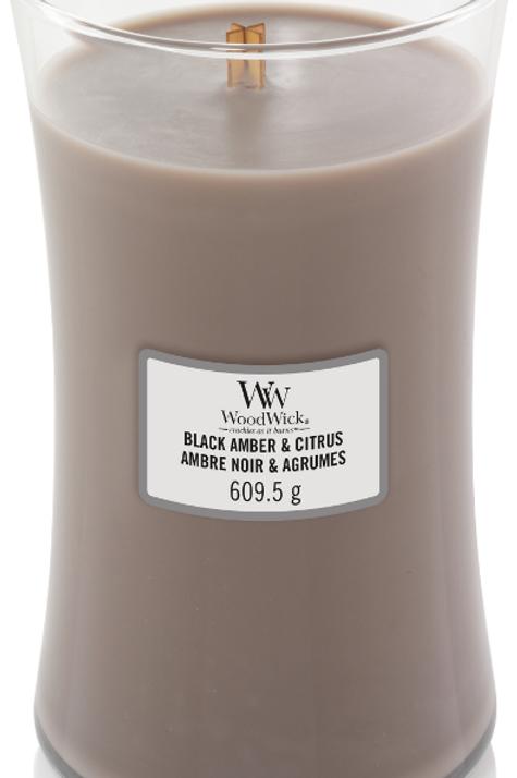 Black Amber & Citrus Large Candle