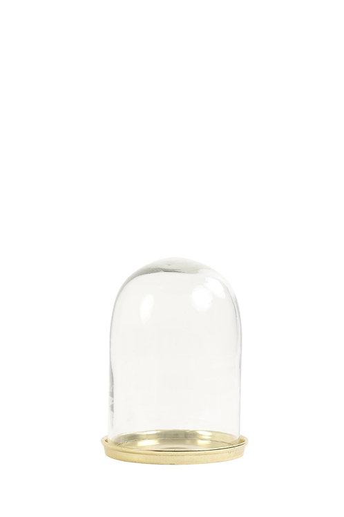 Stolp Ø16x22 cm HARANG helder glas+goud