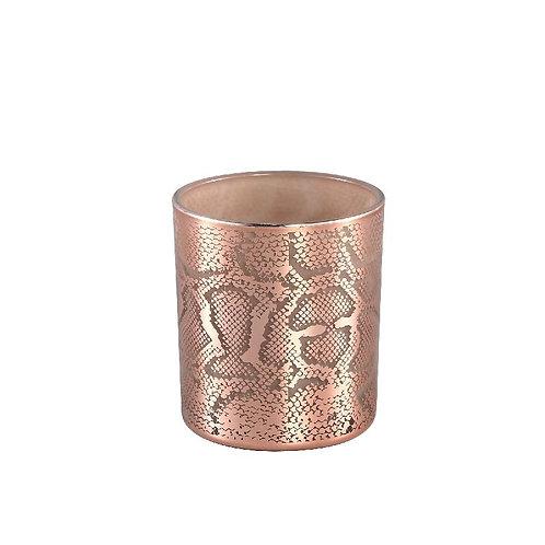 PTMD Giona copper glazen theelicht dierenprint s