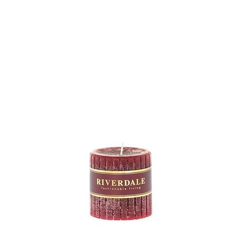 Kaars Venetian burgundy 7x7