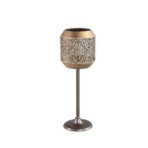 PTMD Janell gold metalen antieke kandelaar m