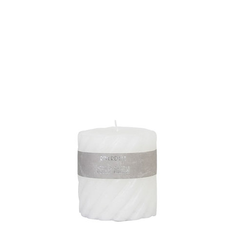 CANDLE SWIRL WHITE 10x10CM White Tea Ginger