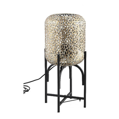 PTMD Jaimey gold metalen staande lamp panter op zwarte